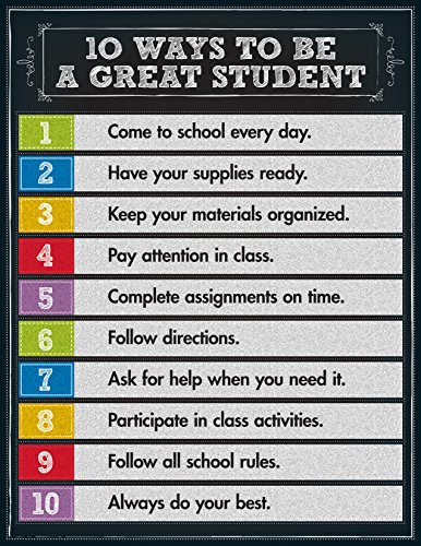 Carson Dellosa 10 Ways to be a Great Student Chart (114124) ()