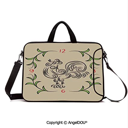 a084f130fb15 Amazon.com: AngelDOU Neoprene Printed Fashion Laptop Bag Rooster and ...