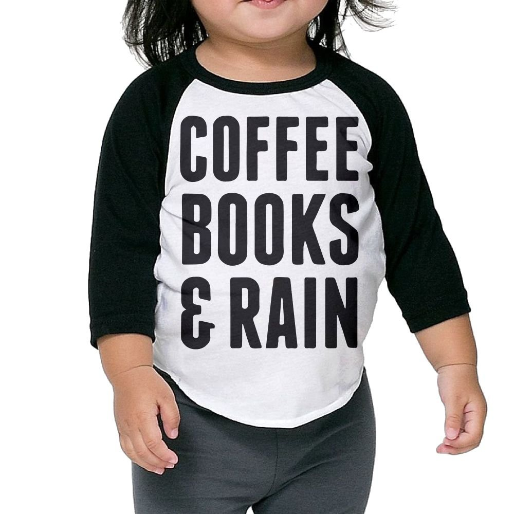 Hanxiaoxiao Coffee Books Rain Funny Outdoor Cute T Shirts Crew Neck 1 2 Sleeve Raglan T Sh