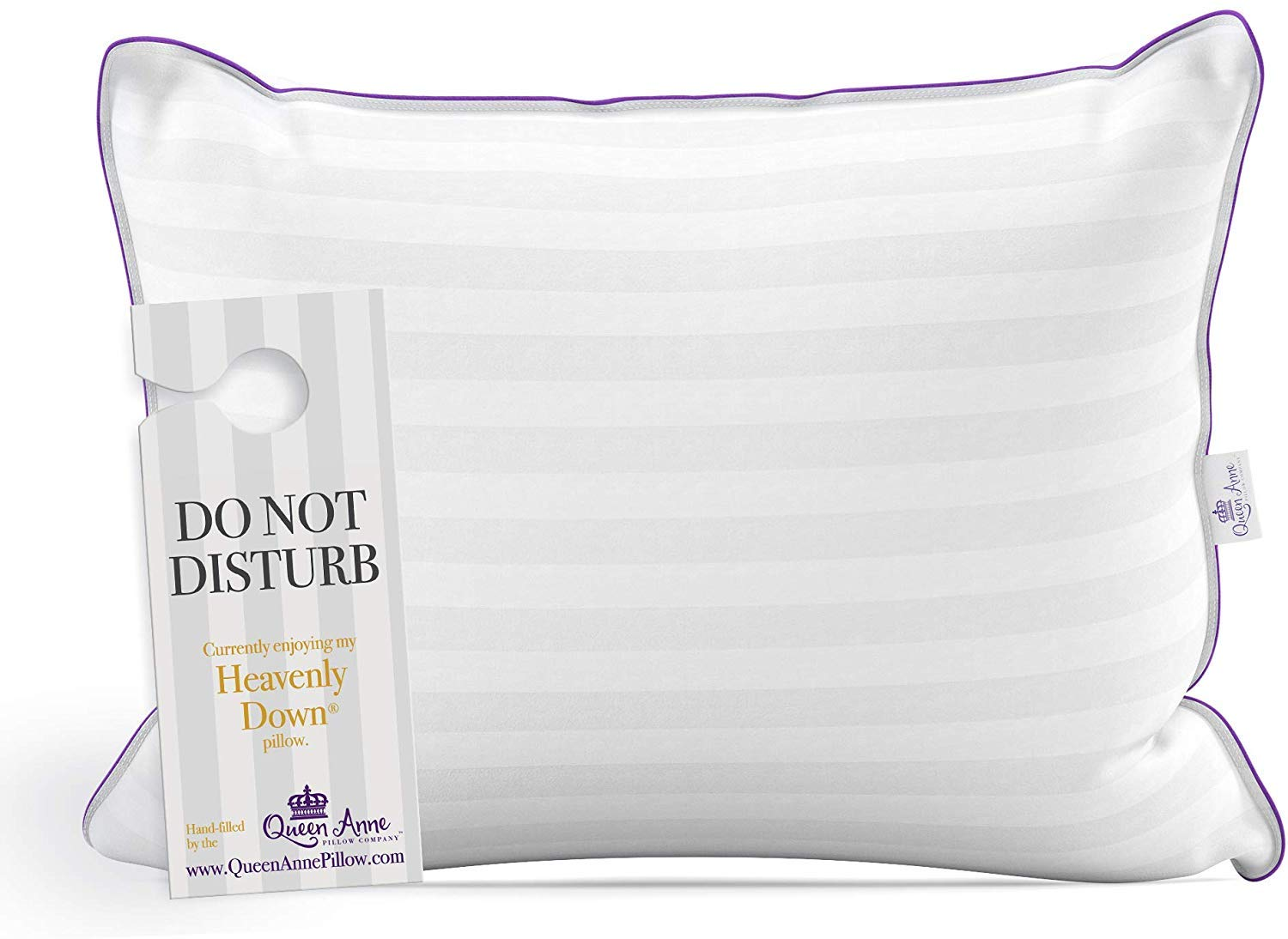 Queen Anne Luxury Hotel Pillow - Majesty Down Synthetic - Allergy Free Hypoallergenic Bed Pillow Pillow - USA Made (Standard Firm)
