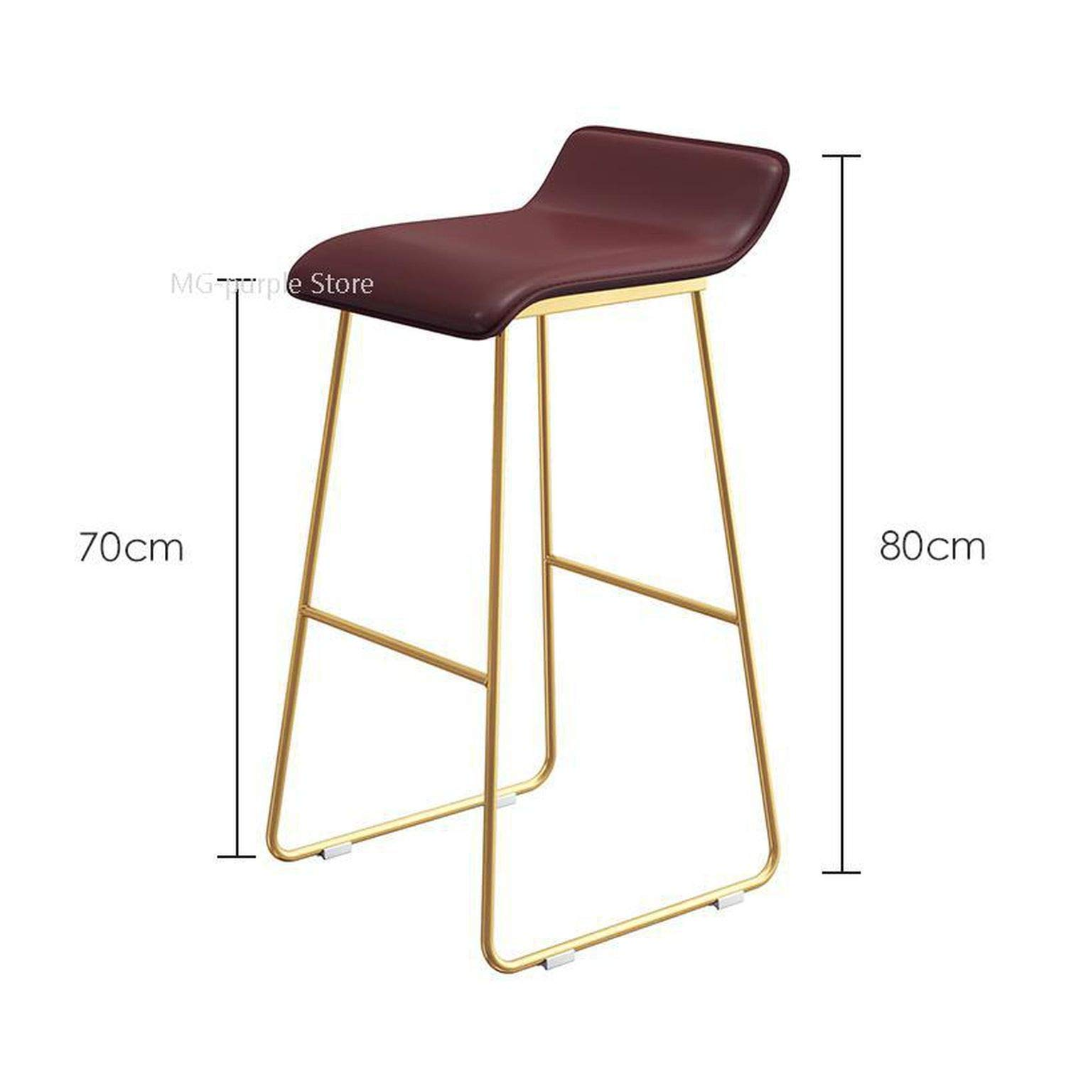 Style 11 one size Bar Chair Coffee Milk Tea Lounge Chair Simple Bar Stool Designer Wrought Iron gold High Chair Padded Bar Chair,Style 13