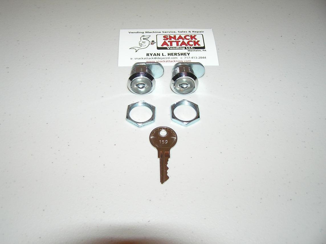 VENDSTAR 3000 #159 (2) TOP LID LOCKS & (2) KEYS (OEM) NEW /! by Snack Attack Vending