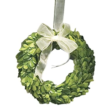 Napa Home & Garden 6-inch Preserved Boxwood Wreath with Ribbon