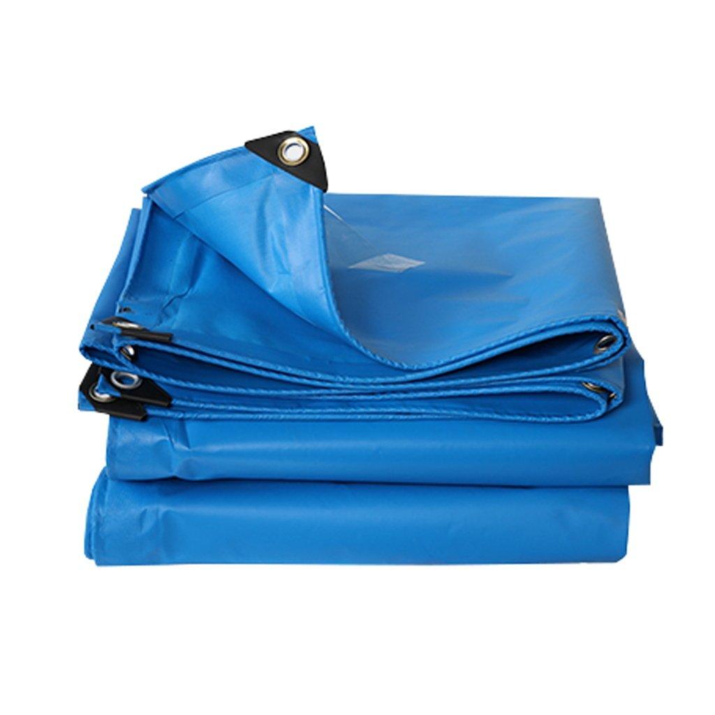 Zelt Zubehör Plane Blaue Plane Planen Tarnung Multifunktions Poncho für Camping Angeln Garten Sonnenschutz Kälteresistenz, Dicke 0,3 mm, 400G   m², 15 Größe verfügbar Idee für Camping Wandern