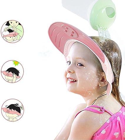 Augenschutz Ohrenschutz Baby Duschhaube f/ür 0-6 Jahre Kids f/ür Babypflege Baby-Kind-Shampoo-M/ütze Shampoo Schutz Verstellbarer Weiche Silikonhaut