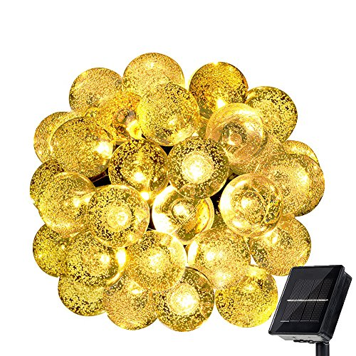WishWorld Outdoor Solar Fairy String Lights, Waterproof Globe String Lights, 20ft 30 LEDs Christmas Lights Decorative Lighting for Indoor, Gardens, Party, Patio and Holiday Decorations(Warm (Outside Decorating Ideas)