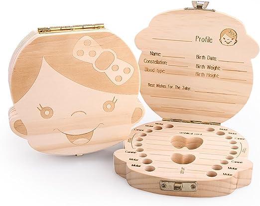 Top SHOP caja de recuerdos para dientes de leche Caja Puerta Ratoncito Pérez – Niña – texto en inglés: Amazon.es: Hogar