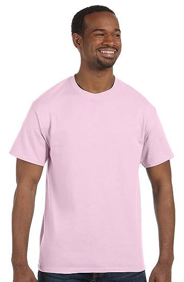 dc065dbacd4b Hanes mens 6.1 oz. Tagless T-Shirt(5250)-Pale Pink-L   Amazon.com