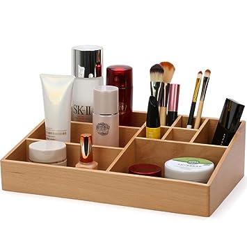 Zz Aini Bambus Kosmetik Organiser Multifunktionale Aufbewahrungsbox
