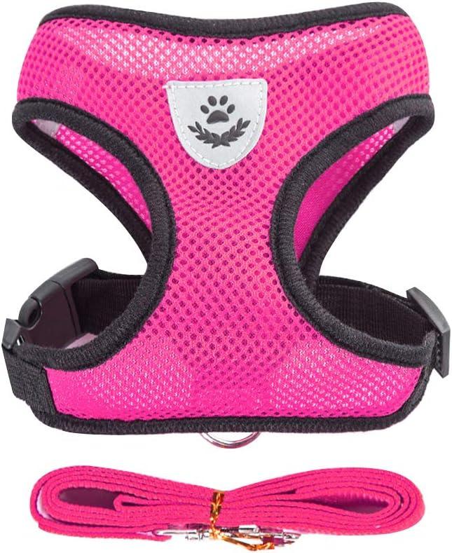 BLEVET Contr/ôle du Confort Harnais Maille pour Chien Harnais R/églable ou Harnais Gilet MZ046 S, Pink