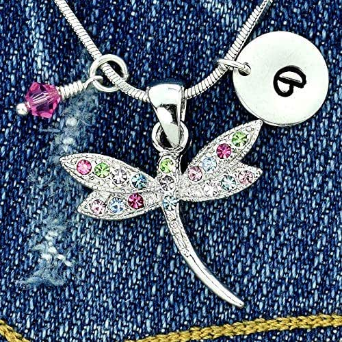 Sparkling Crystal Block Ring Chandelier: Amazon.com: Dragonfly Multi Color Personalized Pendant