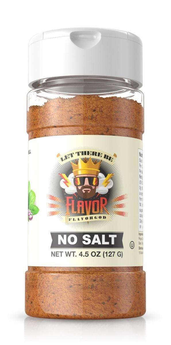 Flavor God Seasonings, Gluten Free, Low Sodium, Paleo, Vegan, No Salt Seasoning, 4.5 Ounce