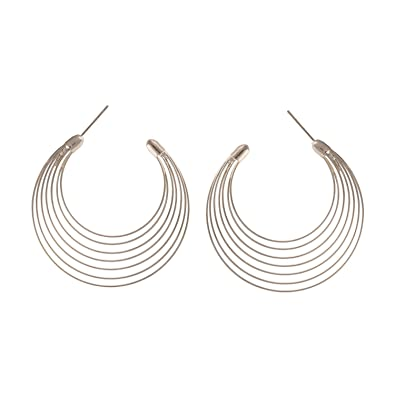 9918c75e0 Buy Western Silver Colour Multi Hoop Earrings for Girls - Stylish and Modern  Daily Wear Ear rings by FreshVibes Online at Low Prices in India | Amazon  ...