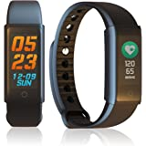 Indigi Waterproof Smart Health Fitness Tracking Bracelet + Heart Rate Sensor, Blood Pressure Monitor, & Pedometer(iOS & Android)