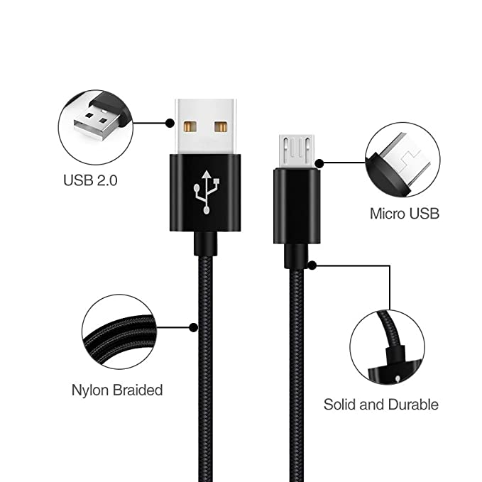 Cable Cargador Micro usb Para Xiaomi Redmi Note 4/5/4X/6 pro/4A/5/5 Plus,Wiko Lenny 2/3,Pulp,Ufeel,Ridge 4g,Htc One M8/M9/M7/A9,Moto G4/Plus/Play,G3/G2/G5s ...