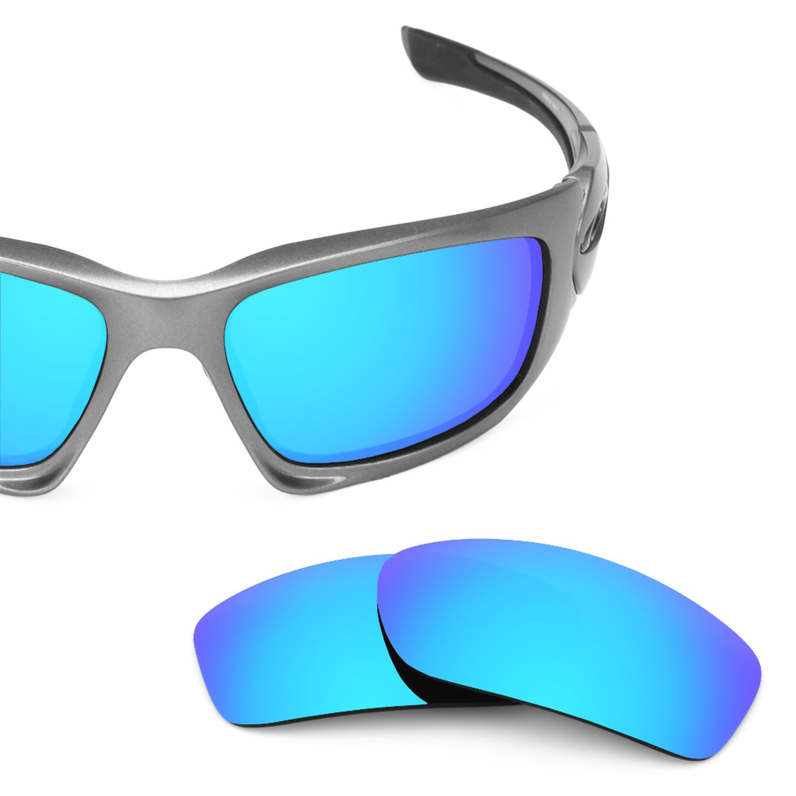 Revant Polarized Replacement Lenses for Oakley Scalpel Ice Blue MirrorShield