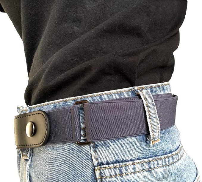 Senza Fibbia Cintura Da Donna Invisibile Elastico Per Uomo//Donne Jeans Pantaloni Abiti Uniformi
