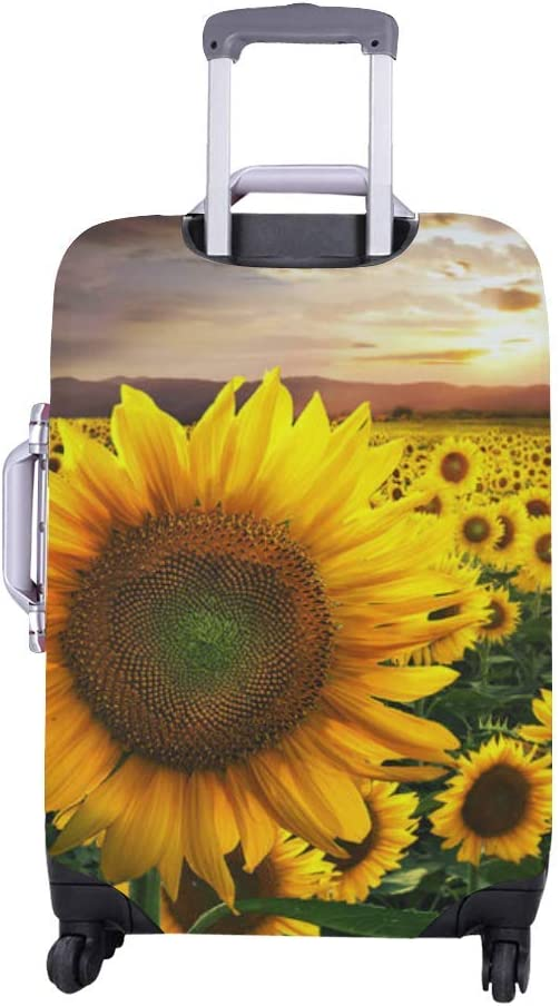 InterestPrint Luggage Cover Sunflowers Sunset Traveling Luggage Cover Polyester Suitcase 20x24 Inch Unisex