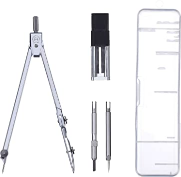 Professional Drawing Compass School Math Geometry Tool Circles Stainless Steel
