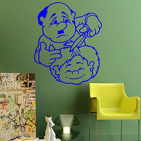 yaoxingfu Decoración de Arte Peluquería Corte Peluquería para niños Pegatinas de Pared Decoración para el hogar Extraíble Dibujos Animados Vinilos Decorativos Tatuajes de Pared WW-4 58 x 71 cm: Amazon.es: Hogar