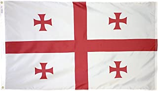 product image for Annin Flagmakers Model 192880 Republic of Georgia Flag 3x5 ft. Nylon SolarGuard Nyl-Glo 100% Made in USA to Official United Nations Design Specifications.