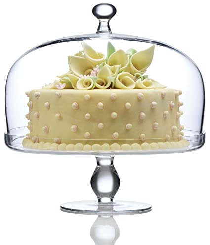Luigi Bormioli Michelangelo Masterpiece Footed Cake Plate with Dome Cover  sc 1 st  Amazon.com & Amazon.com | Luigi Bormioli Michelangelo Masterpiece Footed Cake ...