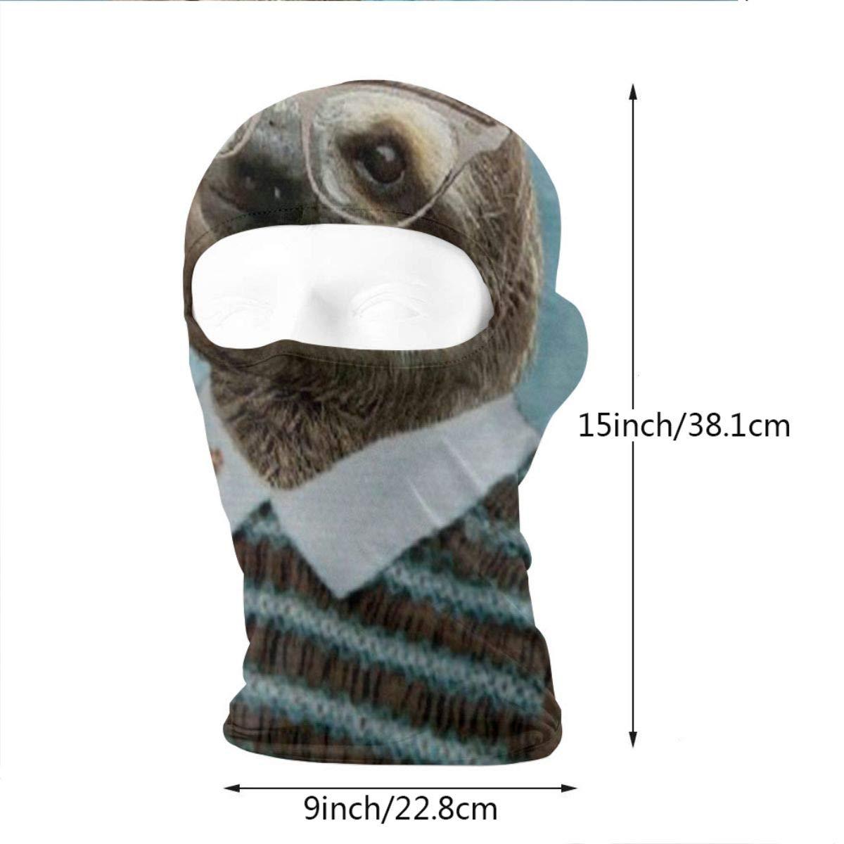 Wind-Resistant Face Mask LaoJi Miss Sloth Winter Ski Mask Balaclava Hood