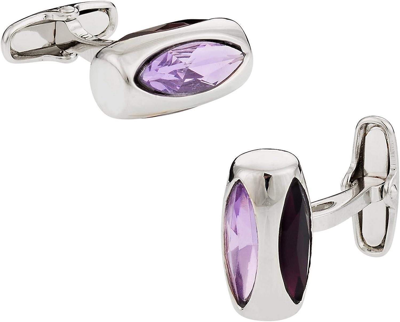 Soho Cuff-Daddy Purple Crystal Glass Vault Cufflinks with Presentation Box