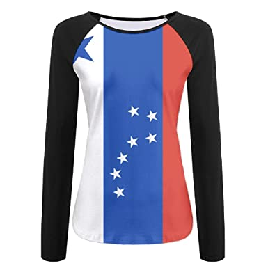 a5e9c2487cb42 Amazon.com  Women s Flag Of Alaska Comfort Long Sleeve Tops Sweatshirt Tee  T-Shirt  Clothing