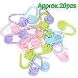 SODIAL(R) 20 piezas de plastico para hacer punto del ganchillo de bloqueo marcadores de la puntada, cierre de ganchillo, herramientas para hacer punto