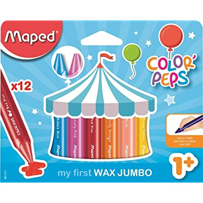 MapedColor'Peps My First Jumbo Wax Crayons (Age 2+) : Office Products