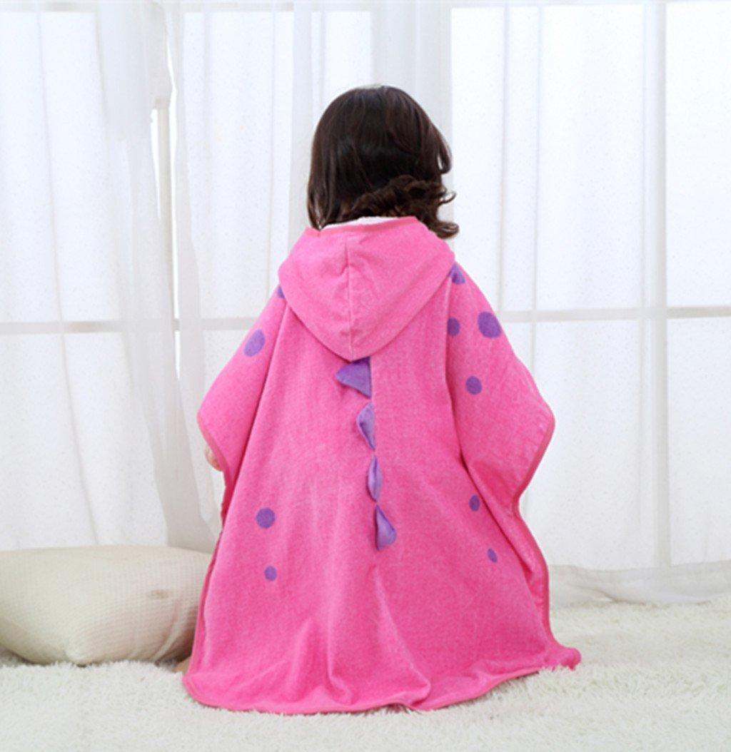 Zilee Kids Hooded Poncho Bath Towel - Boys Girls Cotton Bathrobe Swim Beach Blanket by Zilee (Image #4)