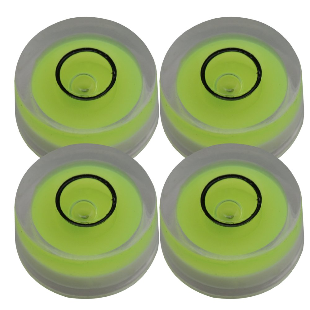 Lovermusic 12x6mm Mini Tiny Disc Bubble Spirit Round Level for Vinyl Record Player Pack of 4 M8180410006