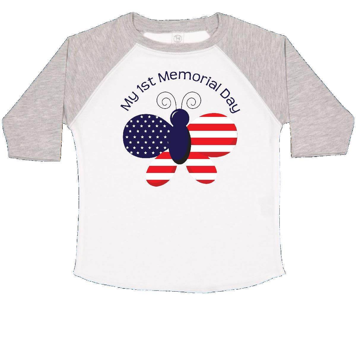 inktastic My 1st Memorial Day Butterfly Toddler T-Shirt