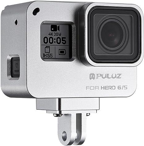 Jaula protectora de aleación de aluminio CNC con marco de seguridad para cámara de acción GoPro Hero 2018/6/5: Amazon.es: Juguetes y juegos