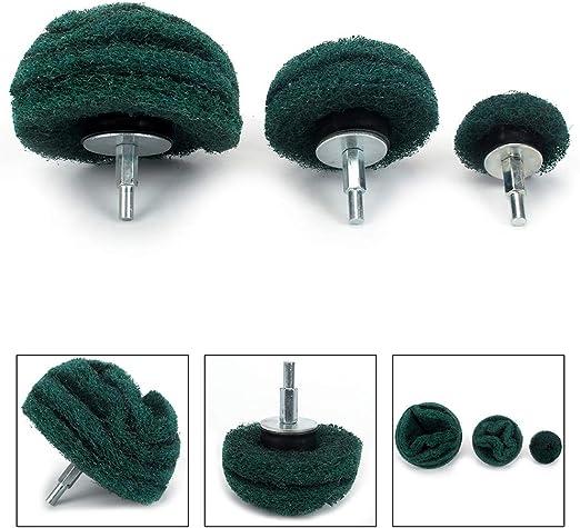 6Pcs Mounted Dome Sanding Mop//Polishing Pad Nylon Fiber Buffing Mushroom Wheel