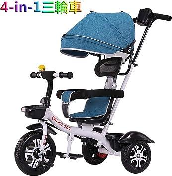 Tricycle 4-en-1 de la dirección de la bicicleta triciclo bebé rotación bidireccional es adecuado