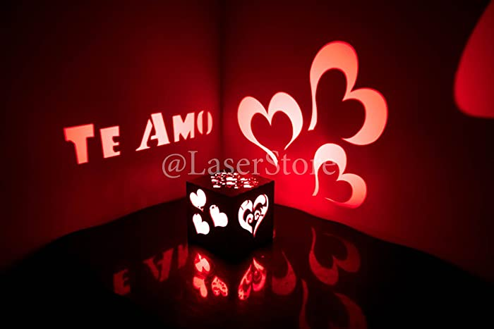 Amazon Te Amo To The Moon And Back Love Gift Girlfriend Birthday Ideas For Her Romantic Present Candle Holder Handmade