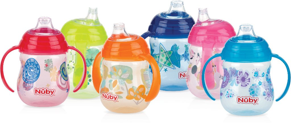 Nuby 1997414 No-Spill Clik-It 2-Handle Trainer Cup - Pack of 2 - Case of 36