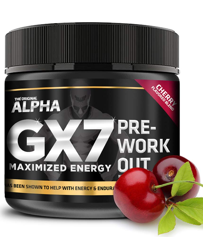"Alpha Gx7 Pre Workout Powder - Energy Drink for Workouts 265g - 30 Servings Cherry""Blast"" Flavor"