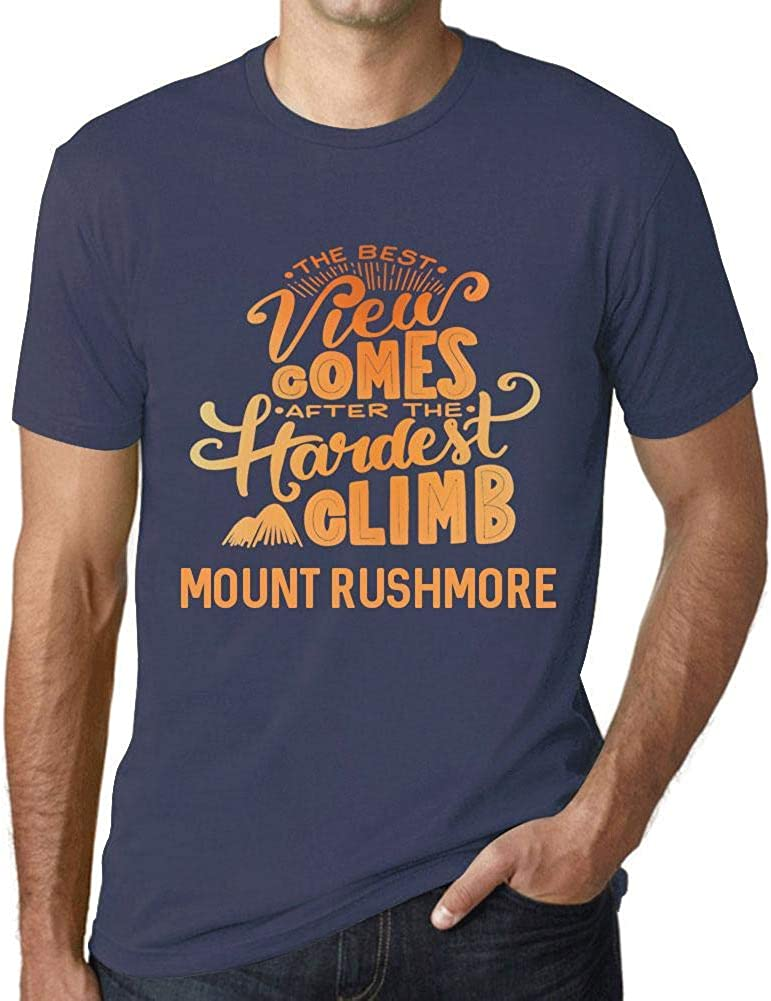 One in the City Hombre Camiseta Vintage T-Shirt Gráfico Best Views Mountains Mount Rushmore Azul Oscuro: Amazon.es: Ropa y accesorios