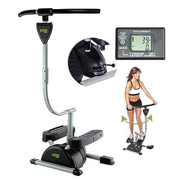 Stepper Twister - Máquina elíptica cardiovascular con pantalla digital multifunción integrada. Entrena todo tu cuerpo