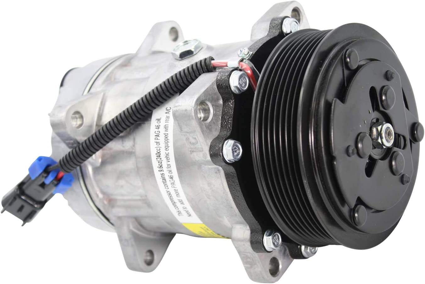 New Sanden Type Kodiak GMC Topkick AC Compressor 4618 4350 4010 With Clutch