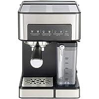 UNIMAT espressomachine met melktank, roestvrij staal-zwart, 22 x 29 x 31, 5 cm