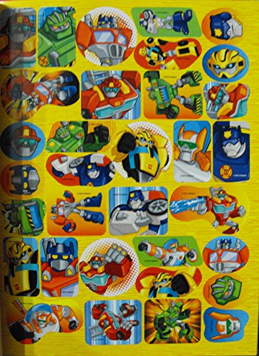 Bundle (2 Books the same) Transformers Rescue Bots Animated Series 144pg Coloring and Activity Book With Stickers. Hasbro. Playskool
