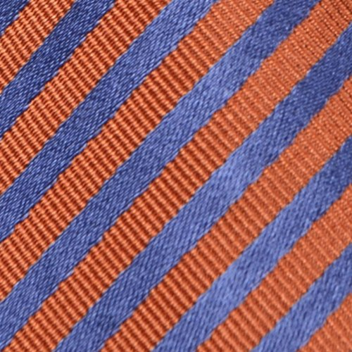Square stripes Blue orange Notch with base Silk Men's Pocket qfwznUBa