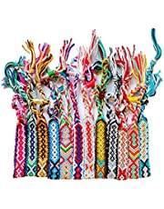 Carykon 12 Pcs Nepal Woven Friendship Bracelets with a Sliding Knot Closure for Women Girls, Color May Vary