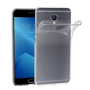 iVoler Funda Carcasa Gel Transparente para Meizu M5 Note, Ultra Fina 0,33mm, Silicona TPU de Alta Resistencia y Flexibilidad
