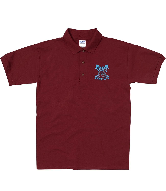 Tee Shirt Shack West Ham - Polo para Adulto Rojo Granate S: Amazon ...