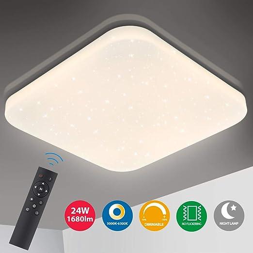 Luxus RGB LED Decken Leuchte Wohn Ess Zimmer CCT Sternen Himmel Lampe DIMMBAR